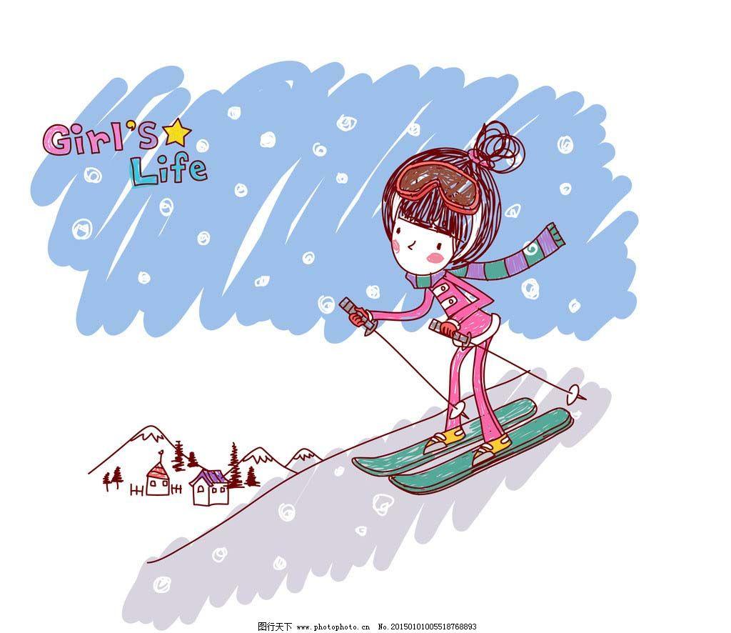 动漫图画手绘女生