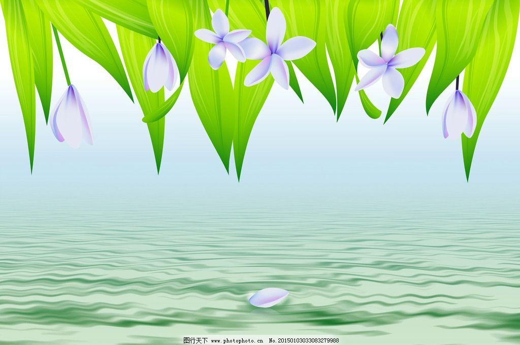 兰花水波纹背景图图片