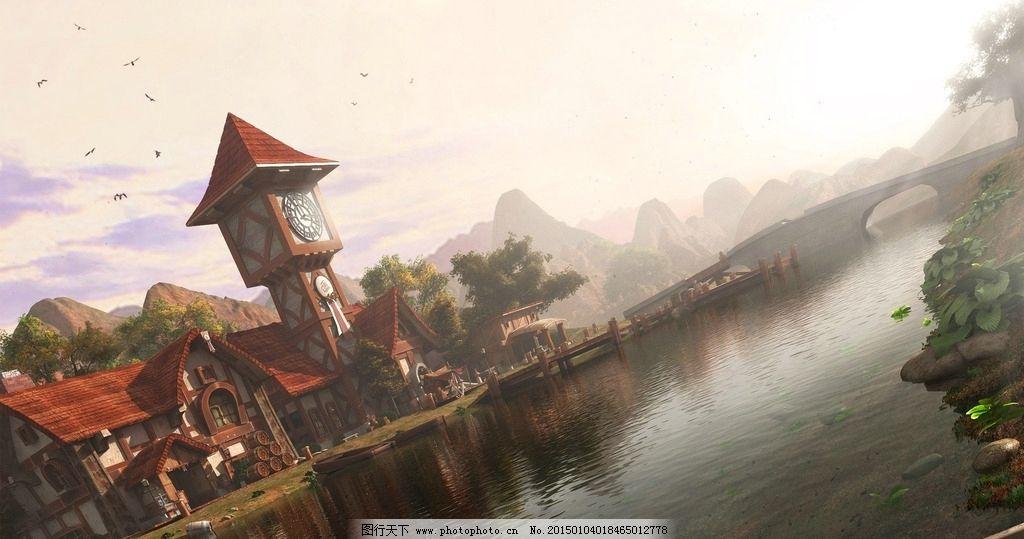 魔兽世界 湖畔镇 联盟 魔兽风景 联盟建筑 设计 动漫动画 风景漫画 9
