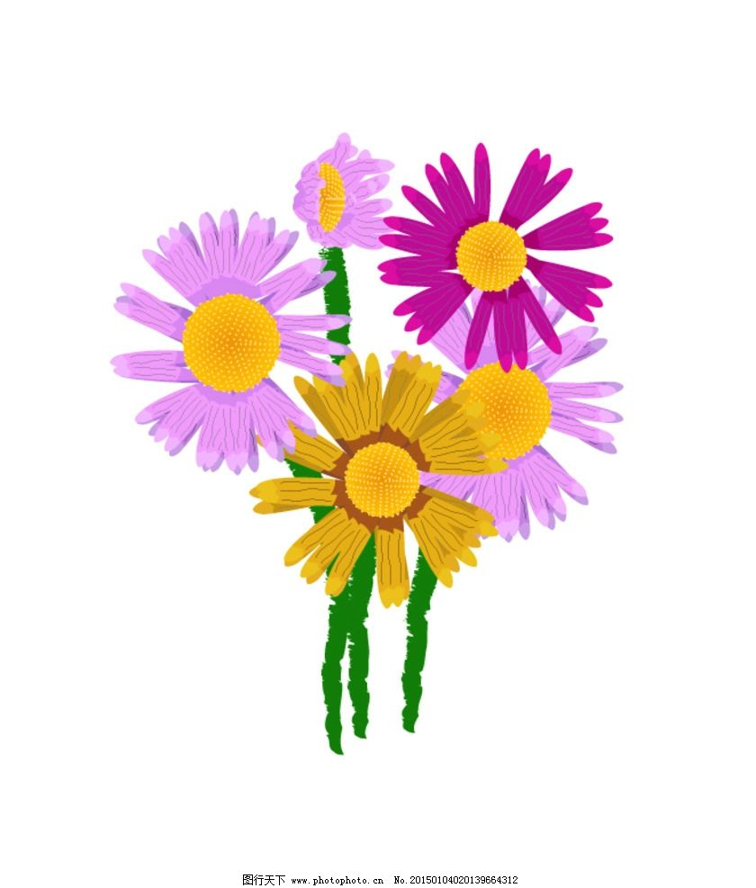 太阳花 花 手绘 红色 粉色 设计 标志图标 其他图标 eps
