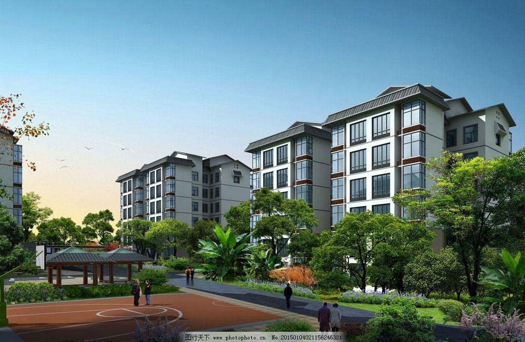 居住区 透视图 3dmax 景观透视 建筑 设计 3d设计 3d作品 150dpi jpg