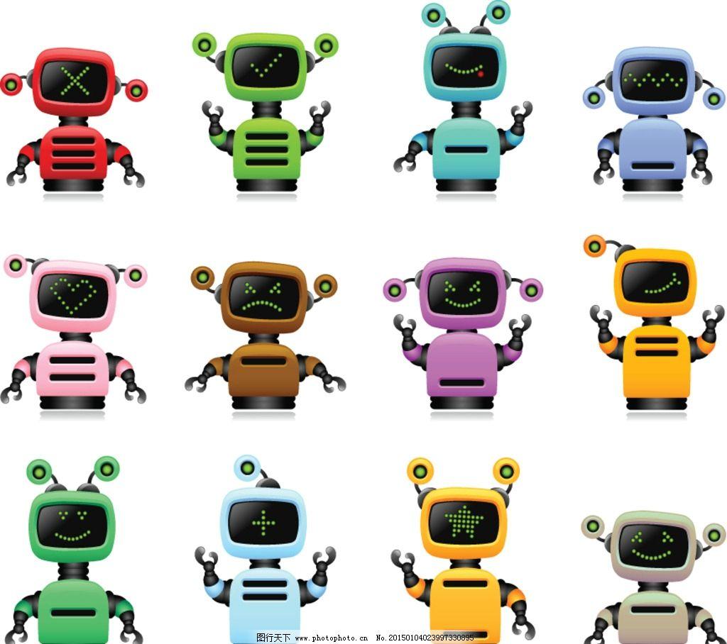 机器人 创意 手绘 卡通动漫 动漫角色 卡通机器人 科技时代