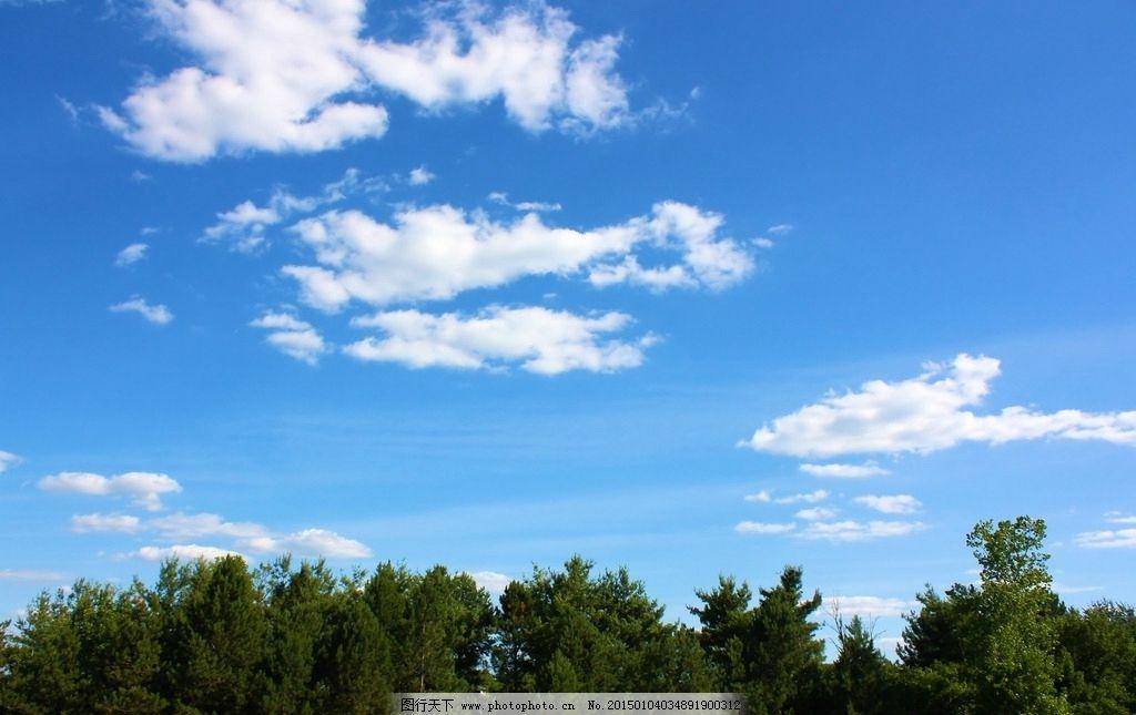 天空 蓝天 白云 云彩 云朵 唯美 树林 自然风景 摄影 自然景观 自然风