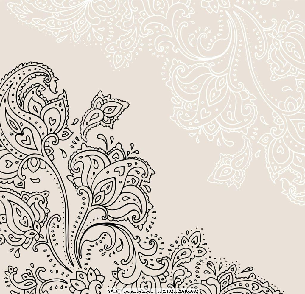 花纹背景 复古 卡片 植物花纹 欧式花纹 装饰花纹 建筑花纹 手绘花纹