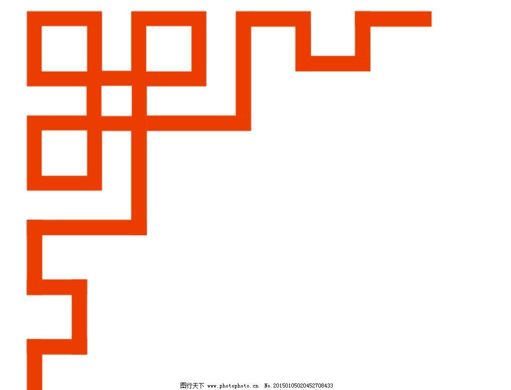 中式 方格花纹 矢量 边角 边框 设计 底纹边框 边框相框 cdr图片