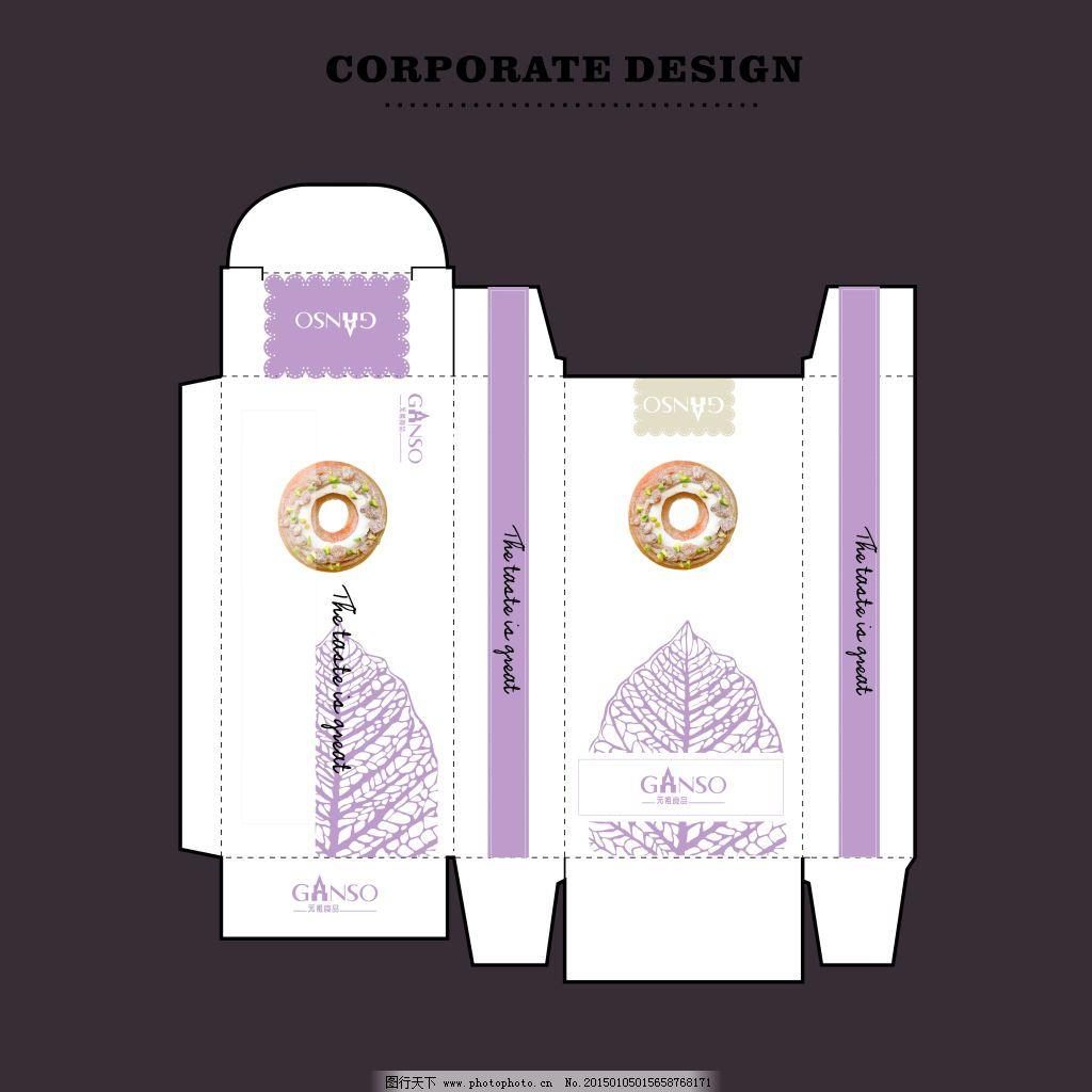 元祖蛋糕包装盒免费下载 包装盒 包装设计 原创 包装设计 包装盒 原创