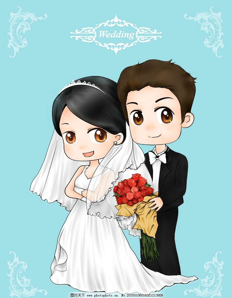 结婚图片_动漫人物_动漫卡通_图行天下图库