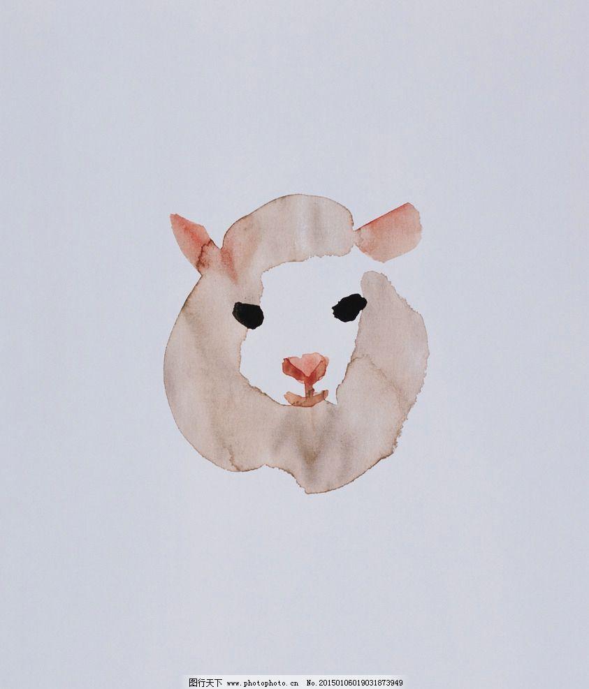 绘画羊图片