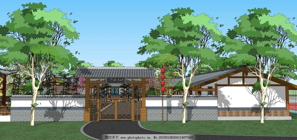 会所 木屋 别墅 景观 山庄 景观设计 设计 环境设计 景观设计 72dpi