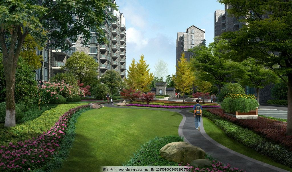 住宅区景观规划 住宅小区 植物配置 湿地 湿地公园 人工湿地 绿化