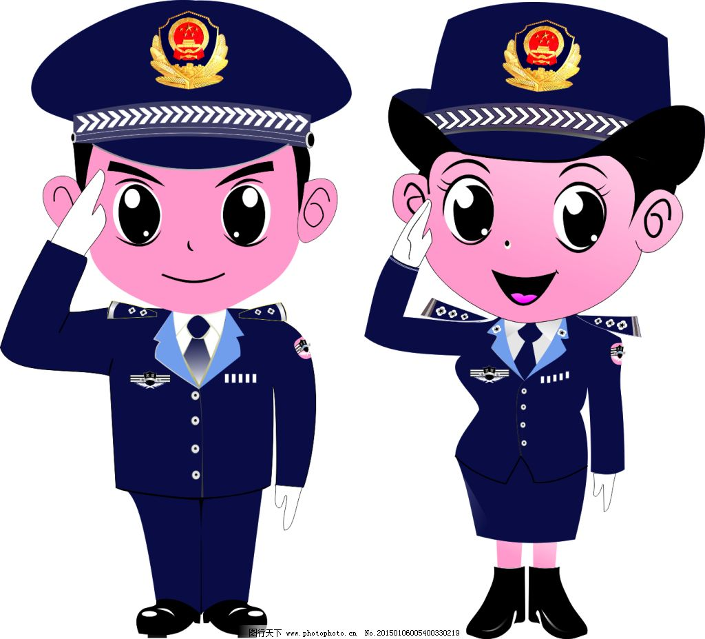 警察cdr矢量图免费下载