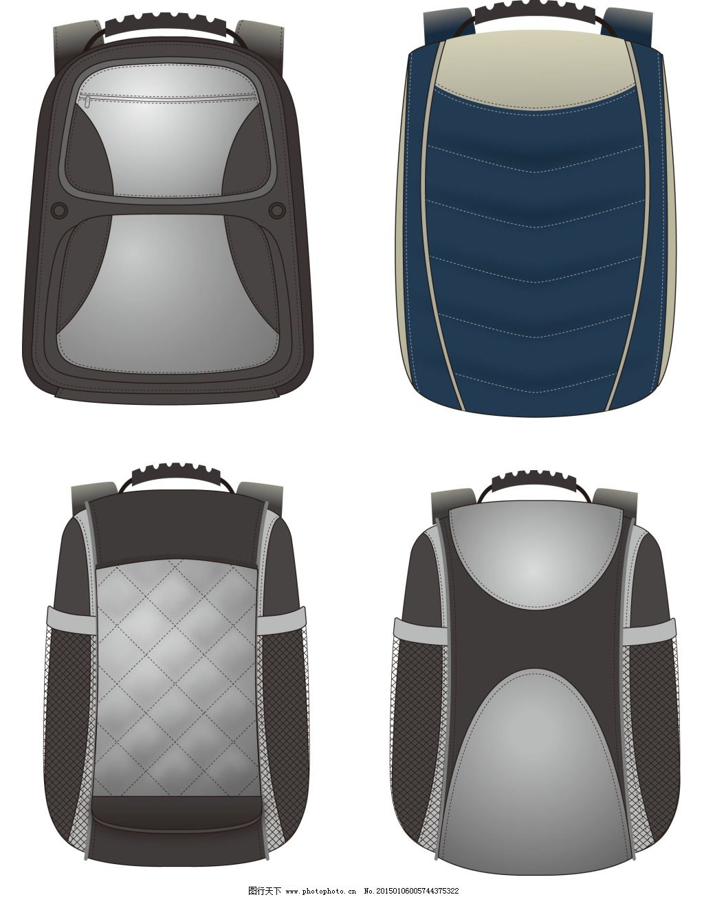 双肩 背包 两用背包 双肩免费下载 双肩背包设计图 可改图 商务双肩