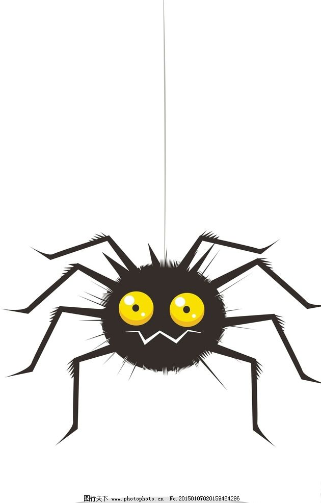 蜘蛛幼儿简笔画