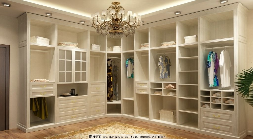 主卧 主人房 房间效果图 现代效果图 现代房间 欧式房间 衣帽间