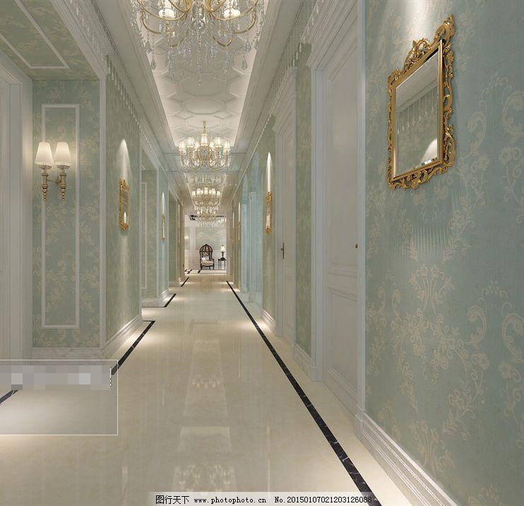 欧式艺术酒店廊道