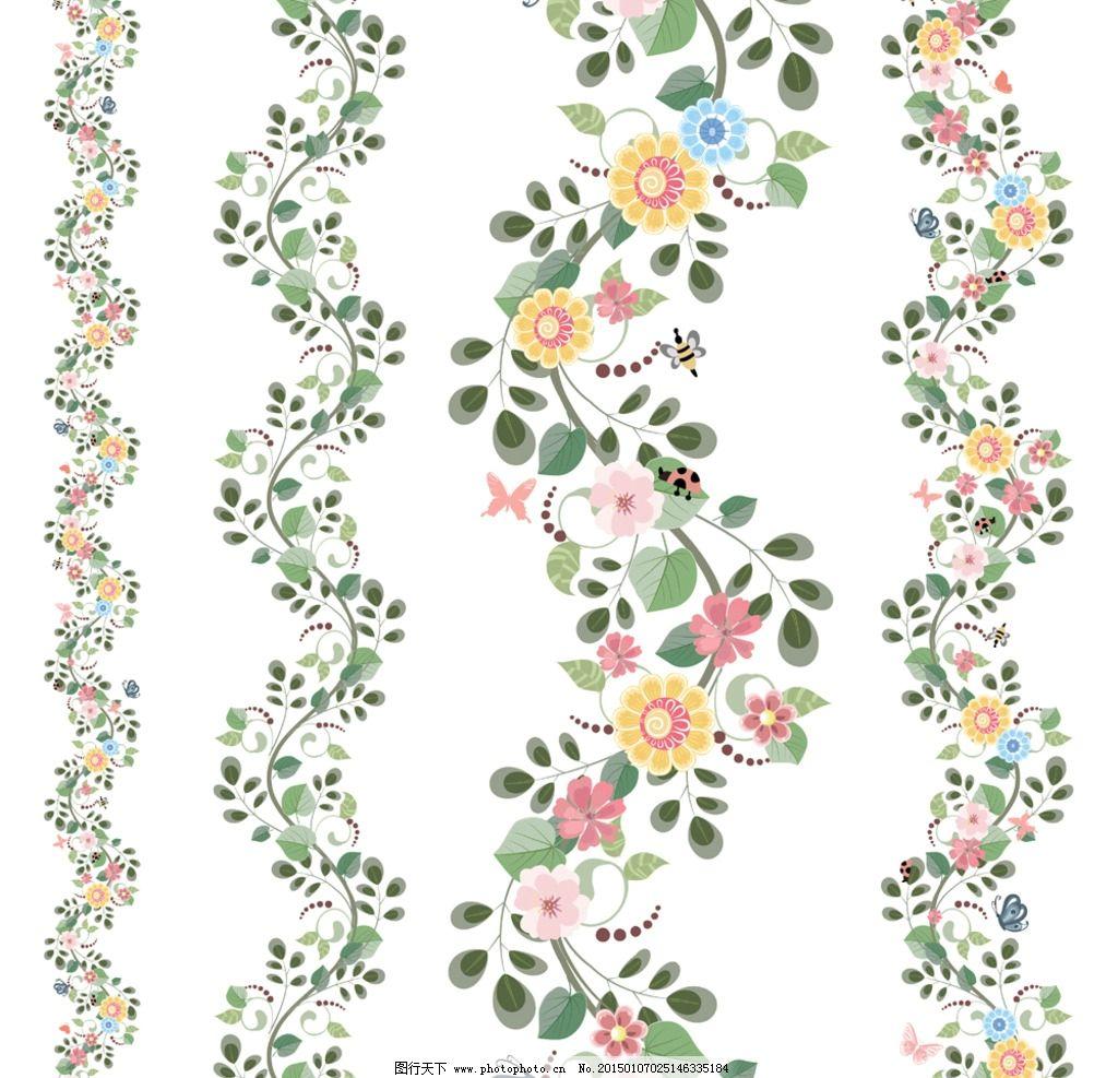 手绘花卉 花朵 鲜花 花卉插图 邀请卡 贺卡背景 卡片底纹 矢量 eps