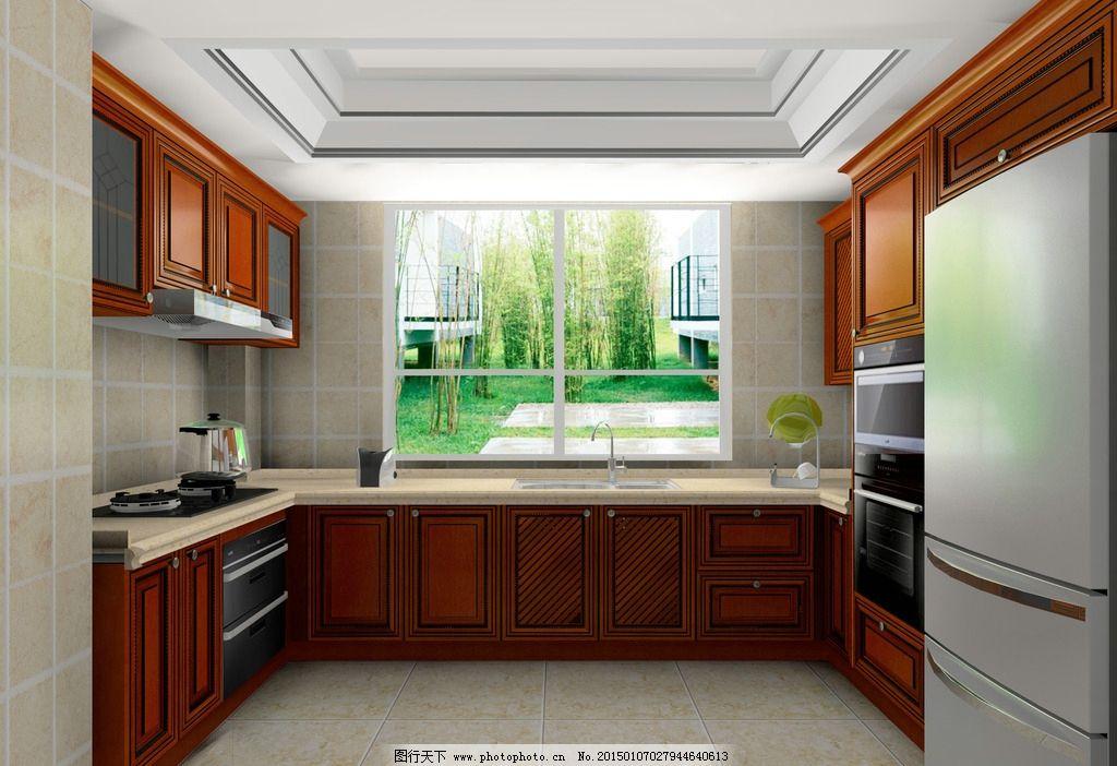 欧式实木 实木厨房 欧式 红橡木 实木欧式 设计 环境设计 室内设计 72图片