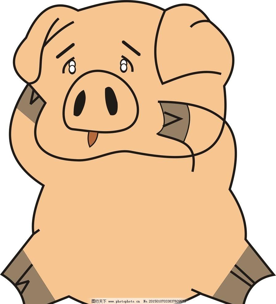 卡通图片 卡通动物 卡通猪猪 儿童动画 动物动画 设计 其他 图片素材