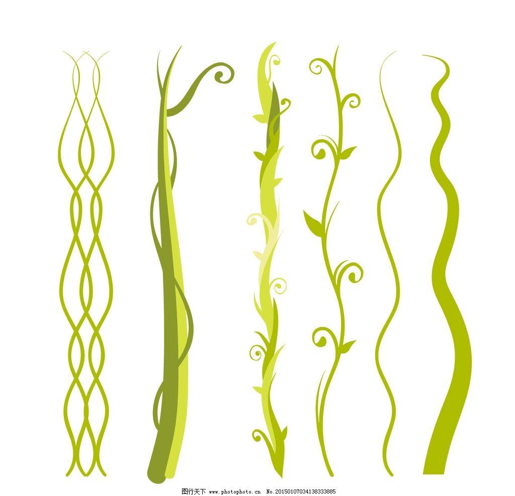 蔓藤 植物 生长 绿色 花草 缠绕 海草 设计 生物世界 花草 ai图片