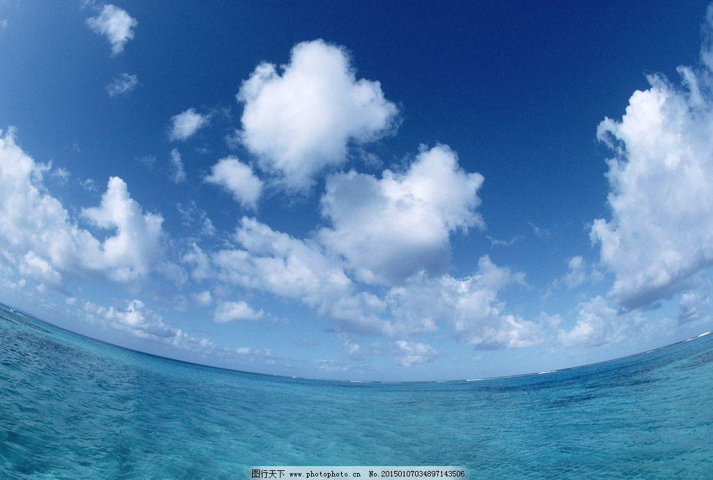 个性网大海蓝天背景图
