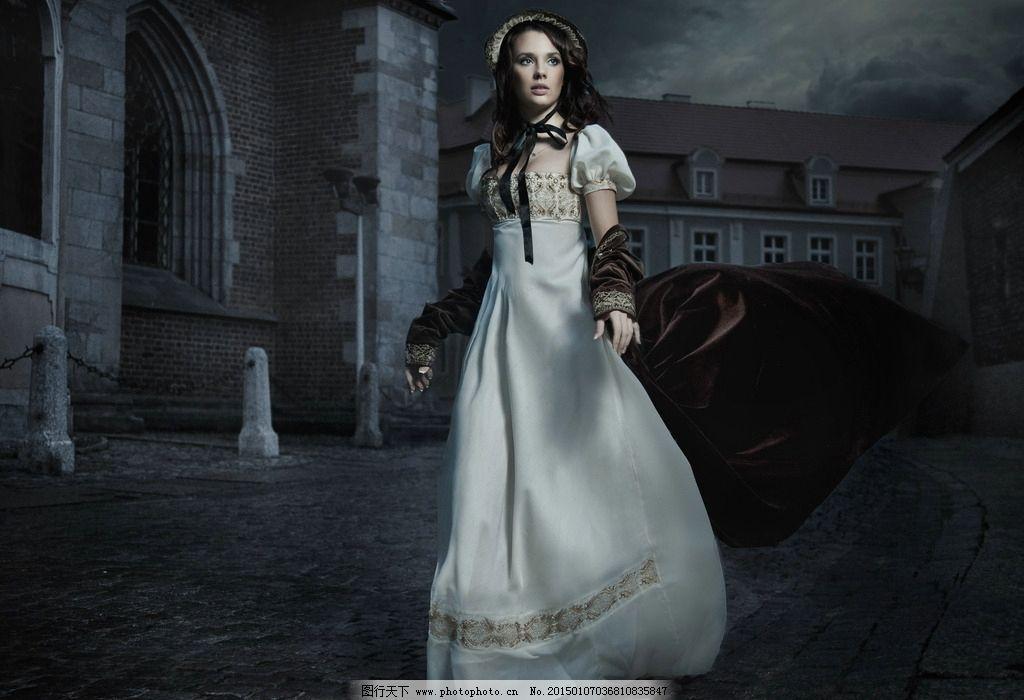 欧式古典贵族裙子图片