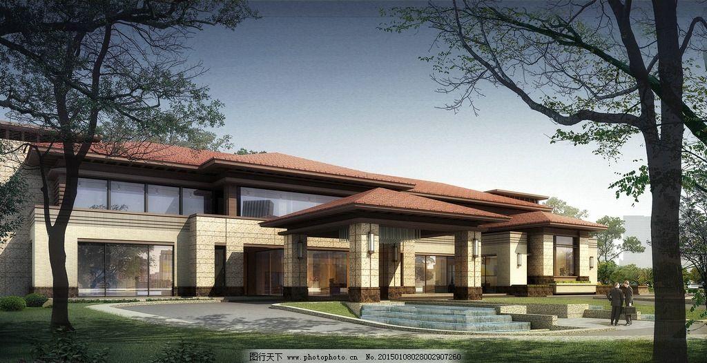 别墅 欧式别墅 别墅效果图 景观园林设计 环境设计 豪华别墅 中式别墅
