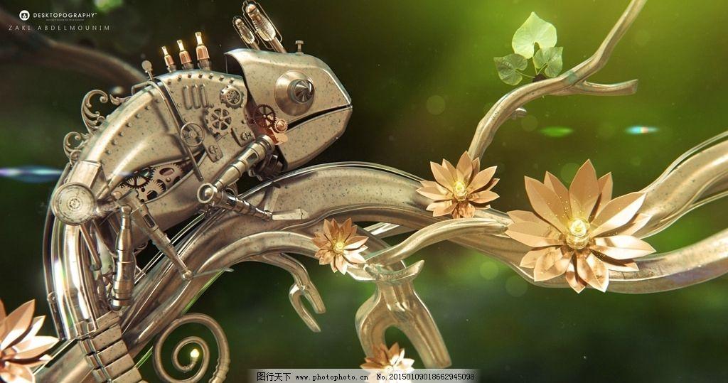 手绘机械蝎子图片