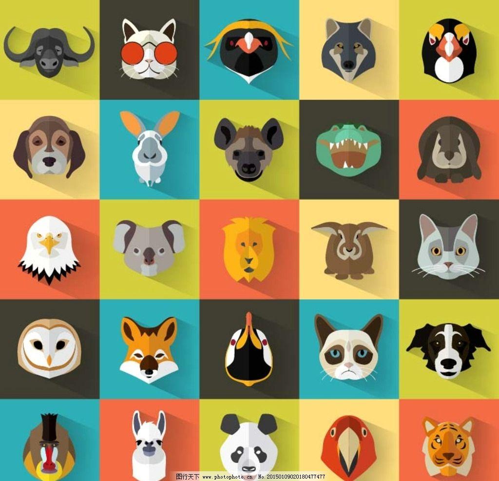 简约设计的动物头像图标图片