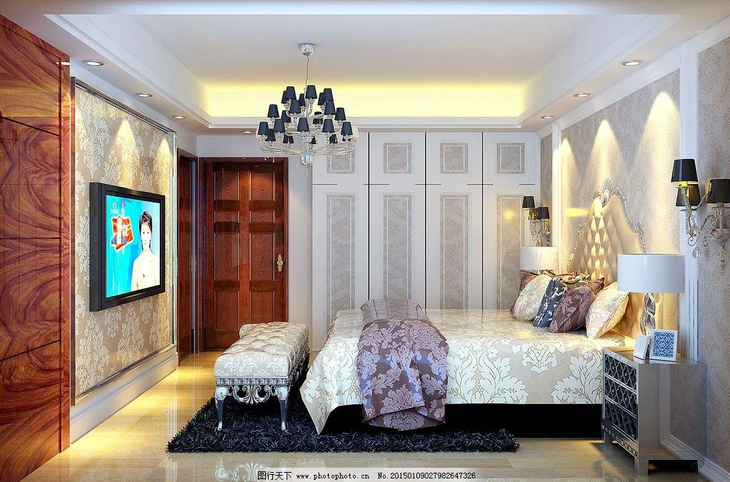 大理石效果 欧式效果图 房间效果图 主人房效果图 法式效果图 简约