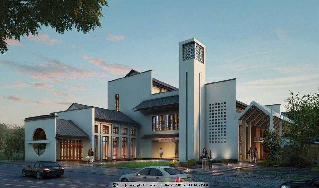 新中式风格 建筑图片