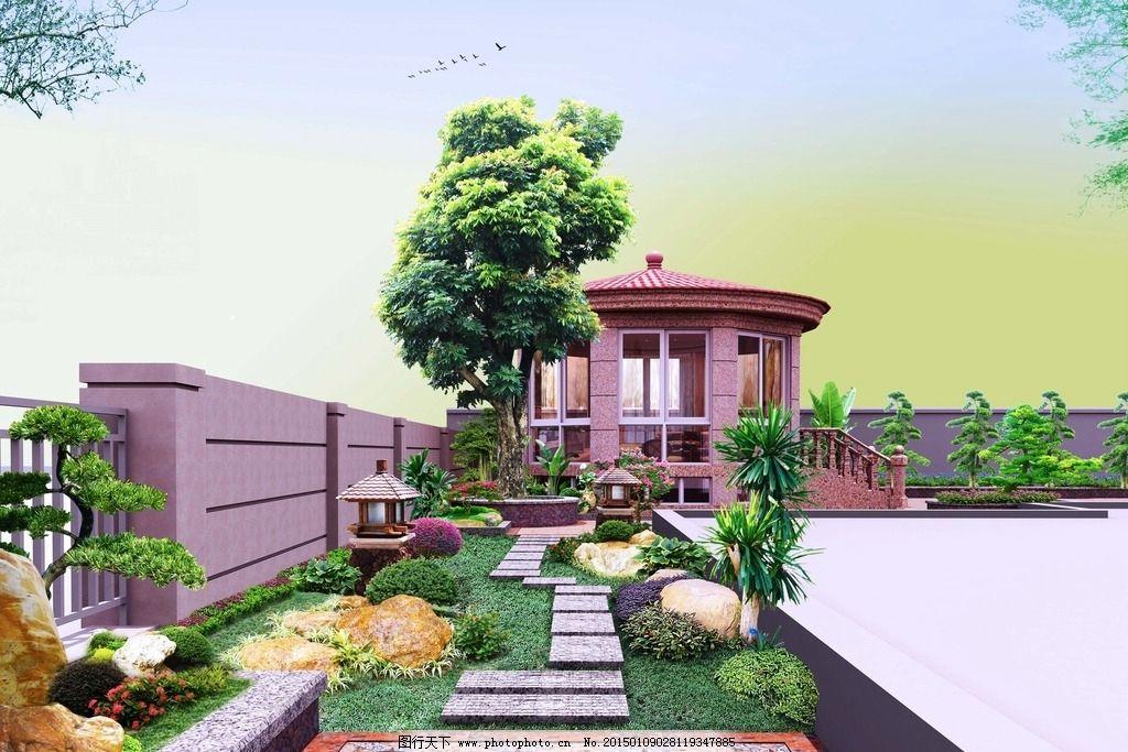 园林景观设计 别墅庭院小路图片
