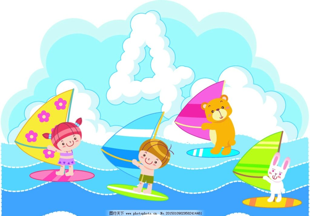 幼儿园卡通学校小学人物模板矢量图片
