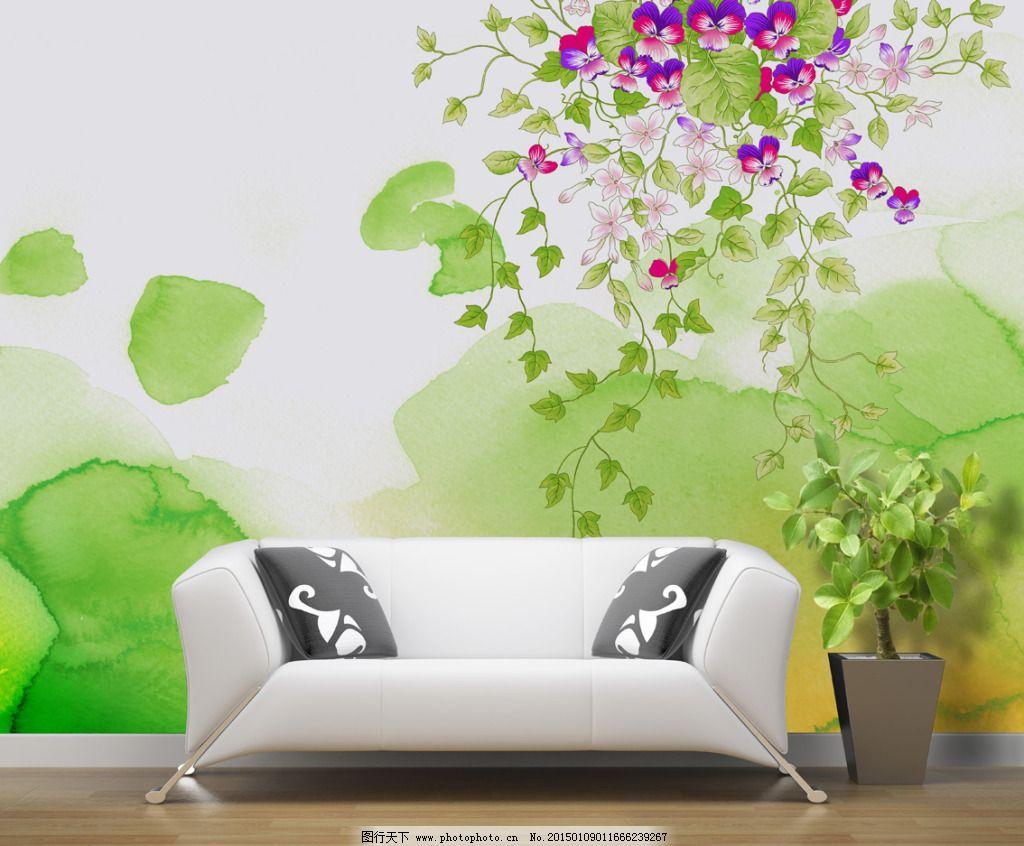 沙发壁画背景墙效果图