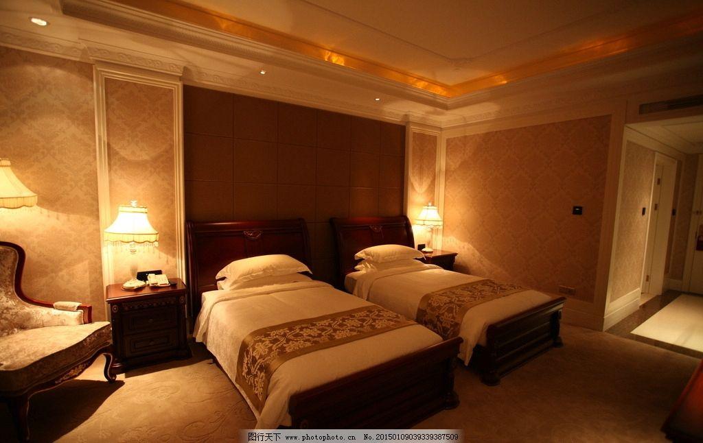 双人间 豪华标准间房 行政标准间房 欧式双人房 高级双人房 暖色调