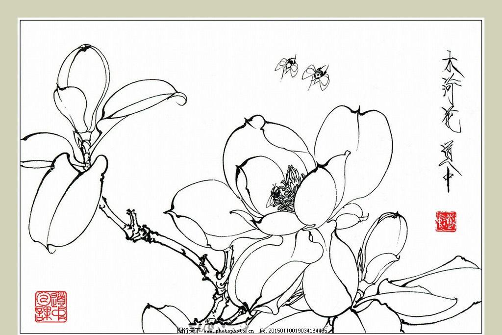 木荷花和蜜蜂图片_绘画书法_文化艺术_图行天下图库