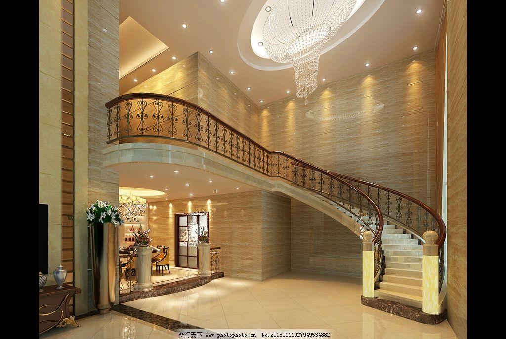 走廊 室内效果 文艺室内效果 欧式室内效果 欧式效果图 简约现代楼梯