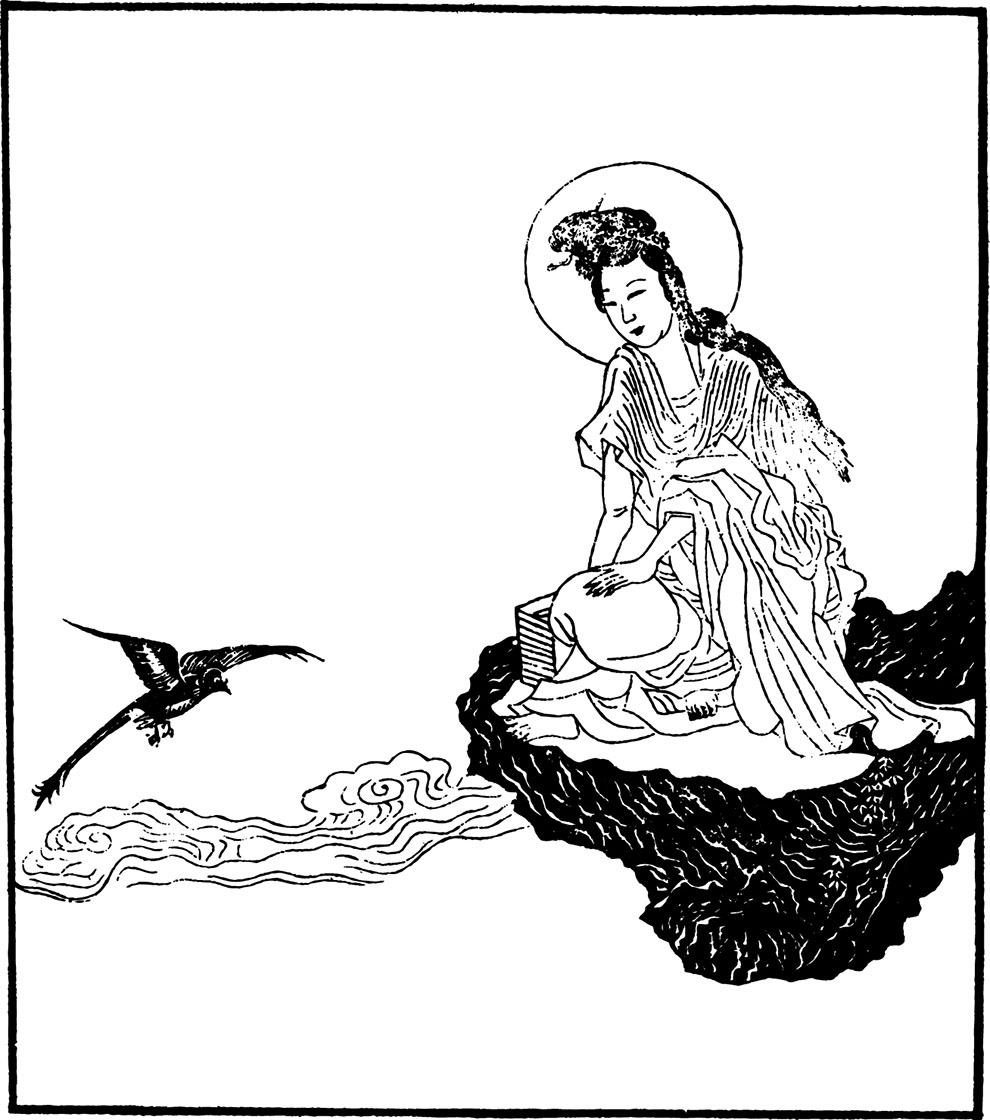 水墨 白描设计素材 插画 古风 中国风 水墨风 线描 矢量图 矢量人物