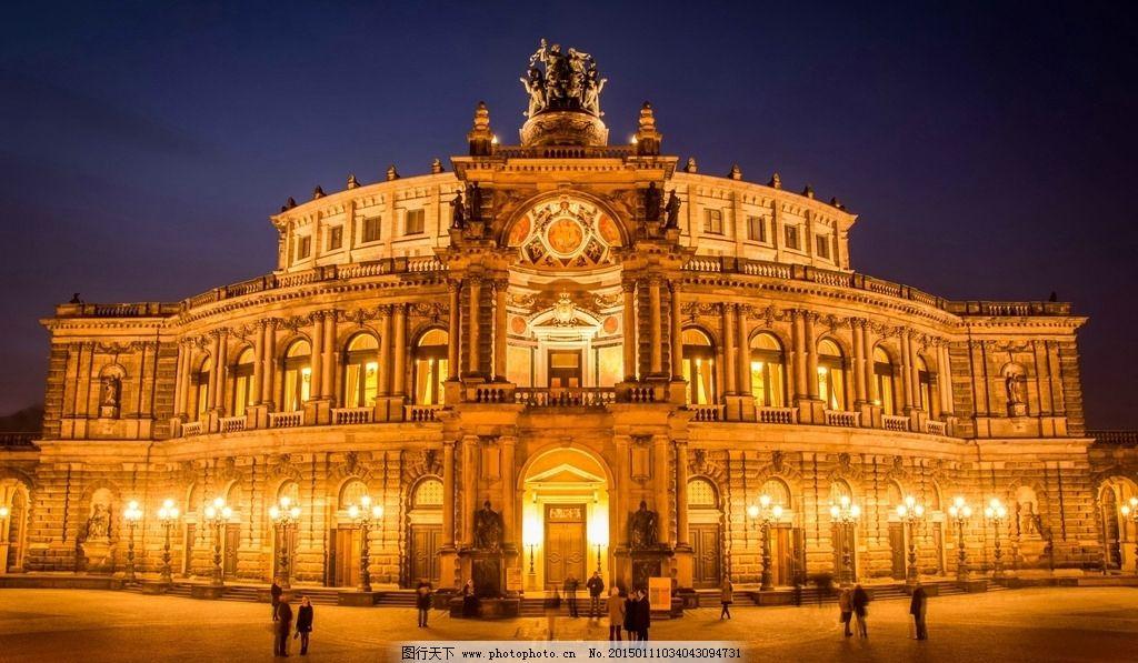 欧式建筑夜景效果图