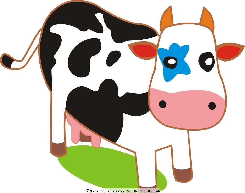 卡通奶牛 动物奶牛 儿童动画 动物图片 动漫动画 其他