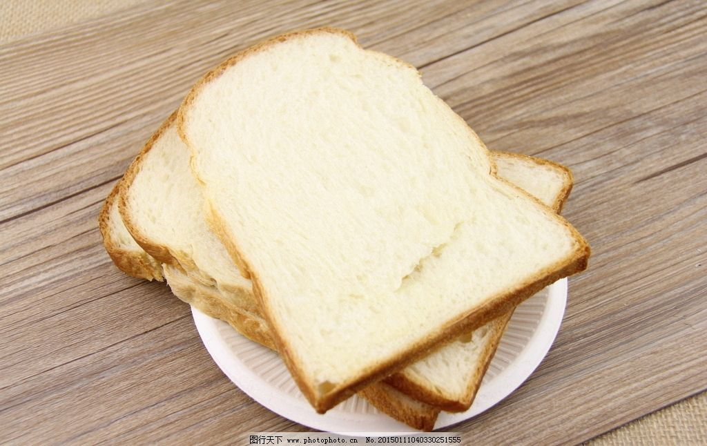 切片面包 土司图片