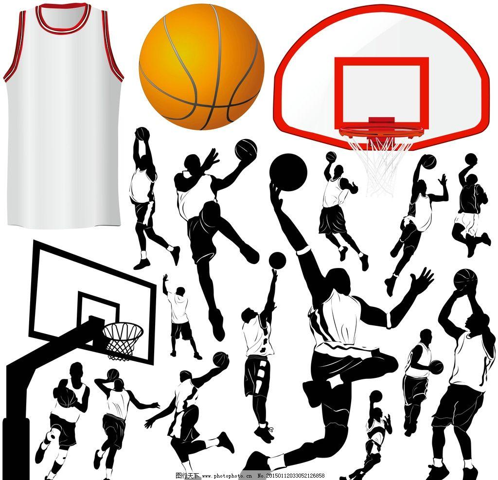 运动人物剪影 黑白人物剪影 人物剪影 足球运动 篮球运动 健身人物