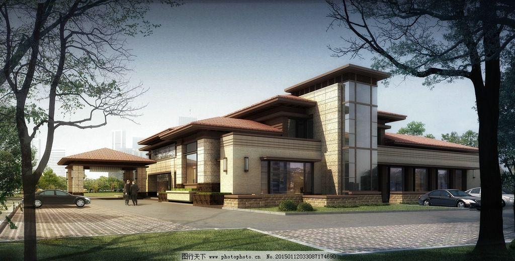 别墅 欧式别墅 别墅效果图 景观园林设计 环境设计 豪华别墅 海边别墅