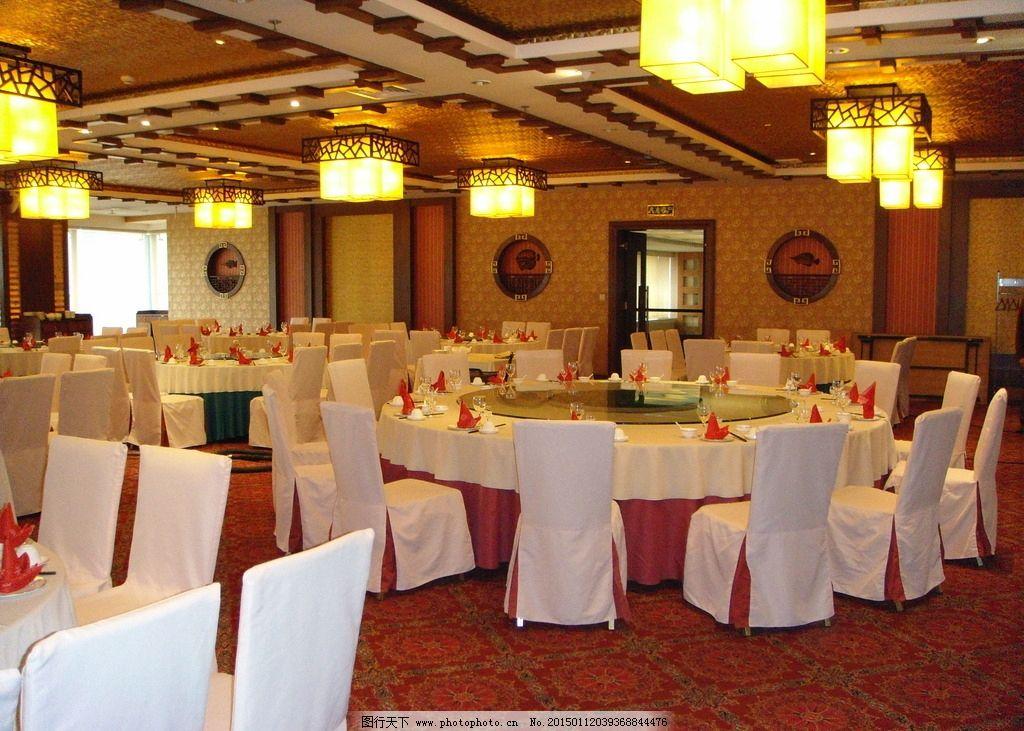 酒店中式宴会大厅图片