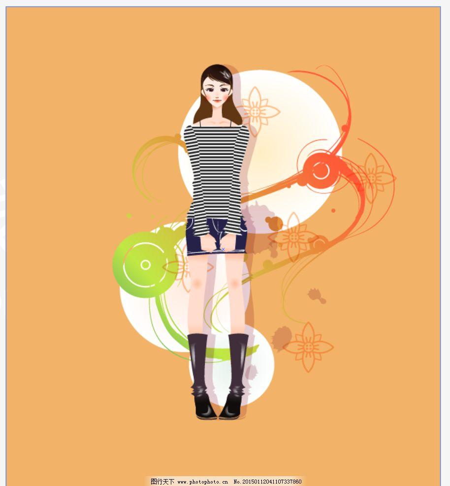 时尚手绘女人图片