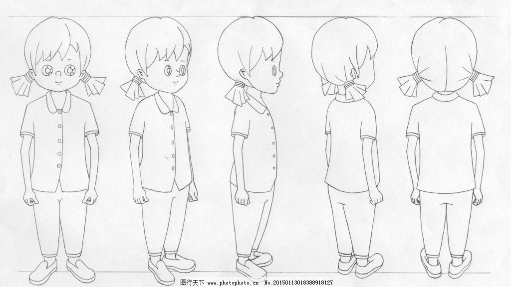 卡通人物转面图片