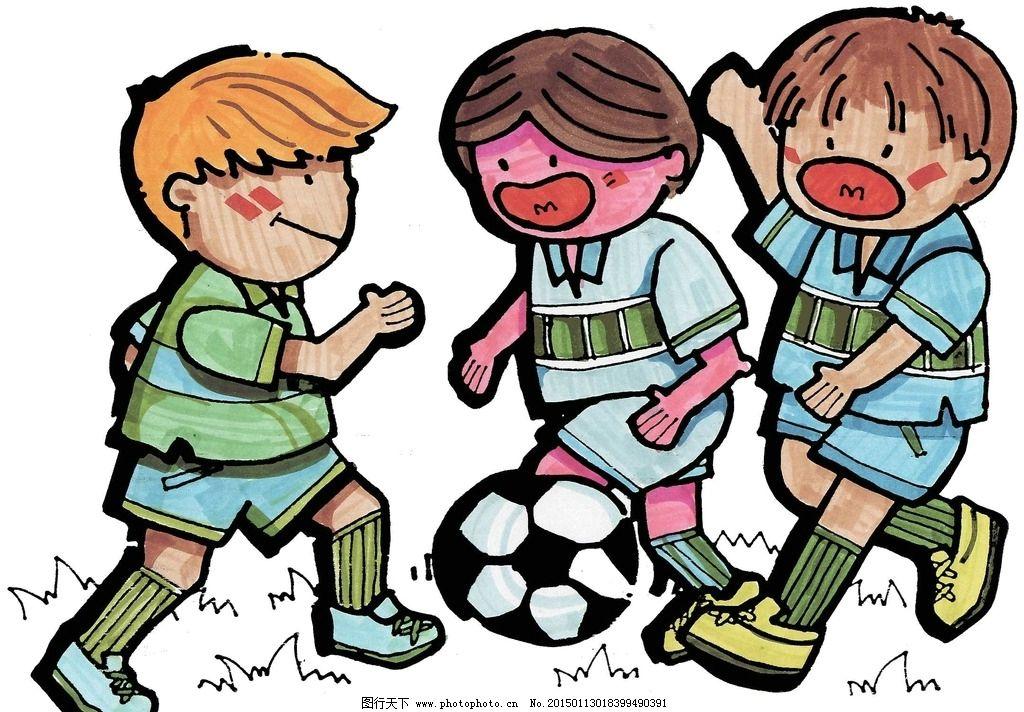 动漫人物  踢足球 男孩 足球 高清图片 jpg 海报 海报设计 宣传画