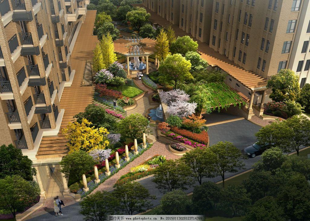 京鑫花园景观鸟瞰图图片