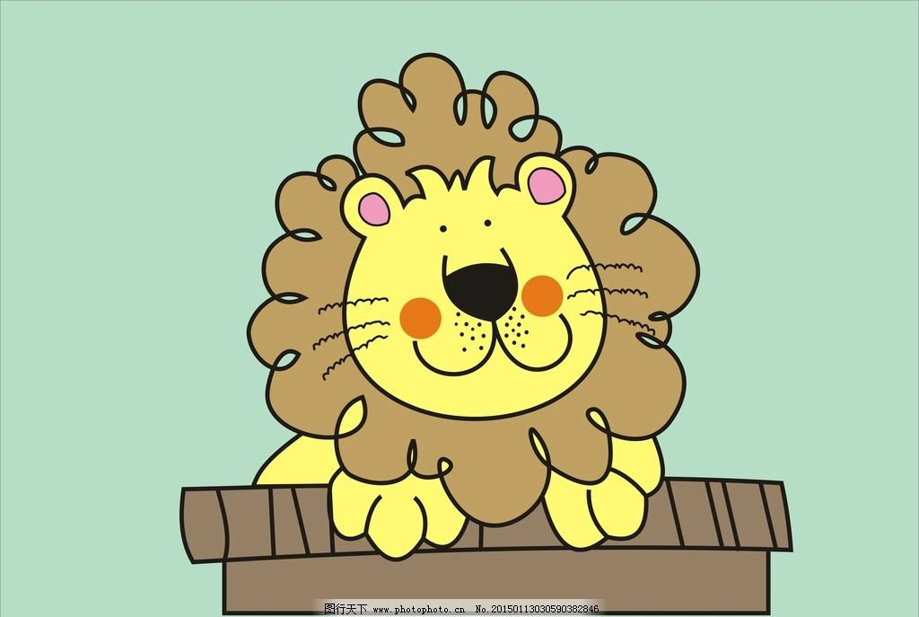 卡通狮子 狮子图片 动物图片 动画狮子 儿童动画 设计 动漫动画 其他