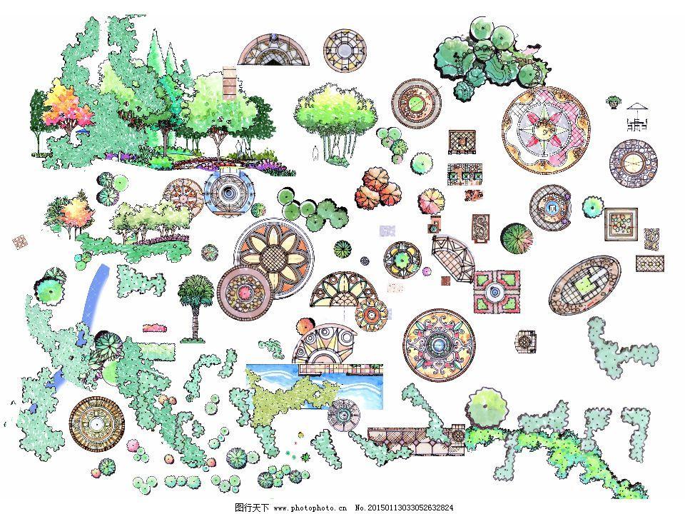 手绘平面植物免费下载