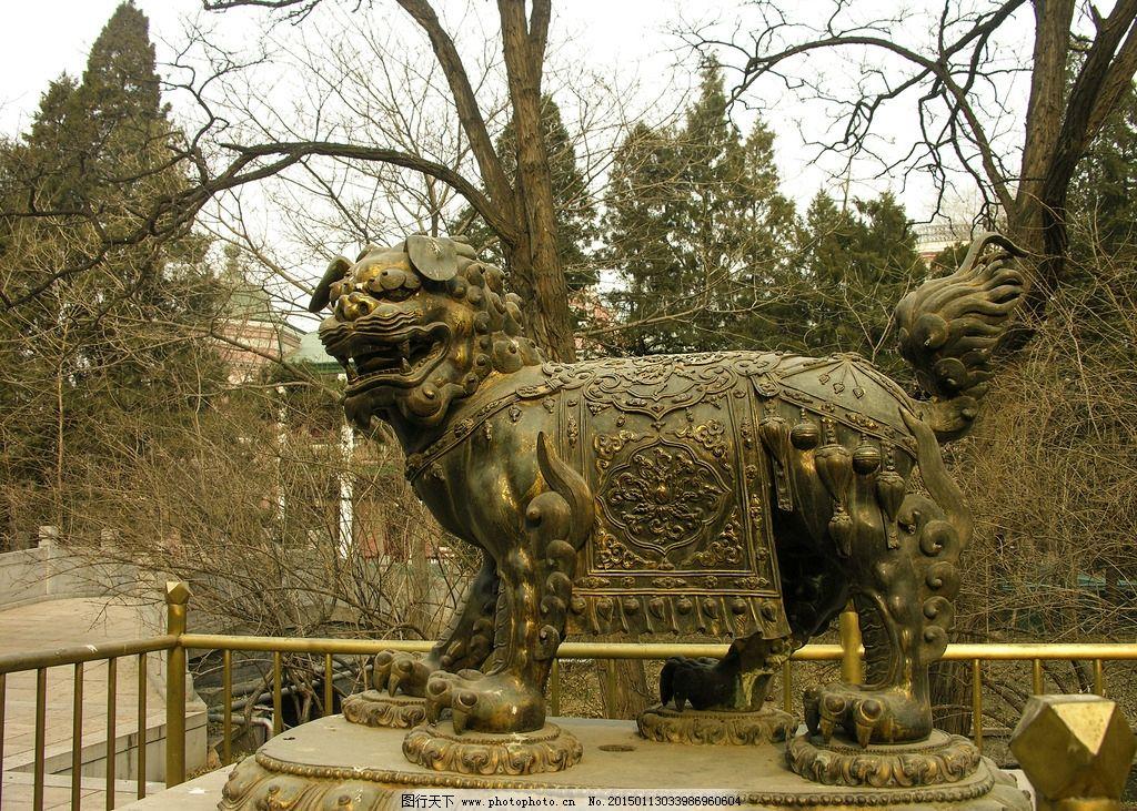 北京动物园 冬景 畅观楼 铜麒麟 喷水 摄影 旅游摄影 国内旅游 300dp